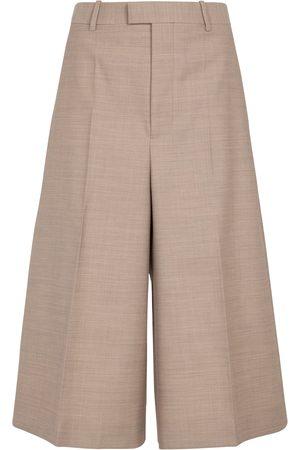 Bottega Veneta High-rise wool Bermuda shorts