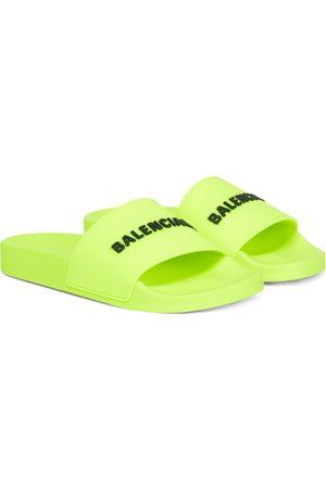 Balenciaga Logo rubber slides