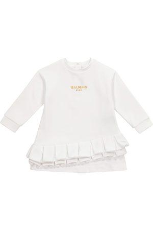 Balmain Baby cotton sweatshirt dress