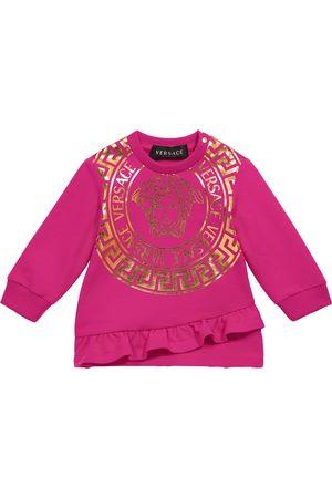 VERSACE Baby Medusa stretch-cotton sweatshirt dress