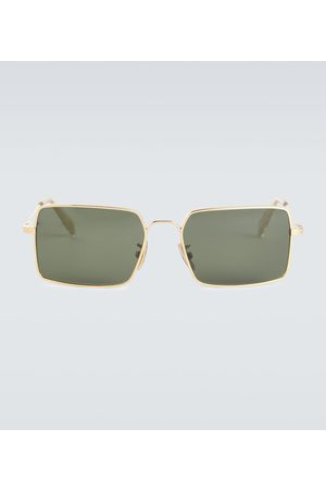 Céline Square-frame metal sunglasses