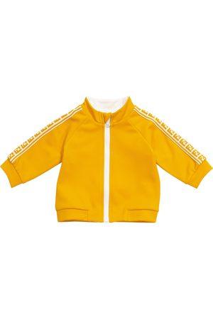 Fendi Zipped cotton-blend sweatshirt