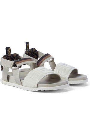 Fendi FF leather sandals