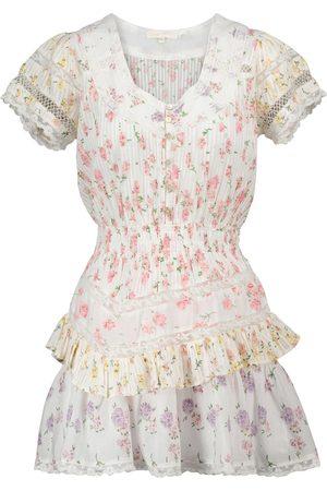 LOVESHACKFANCY Jeromie floral cotton minidress