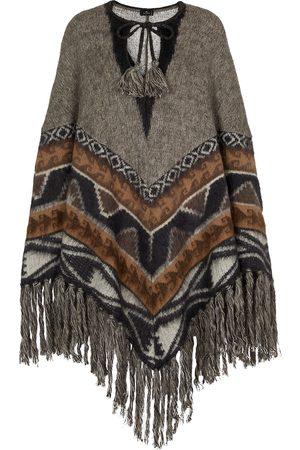 Etro Fringed wool-blend poncho
