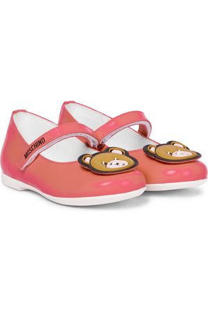 Moschino Baby leather ballet flats