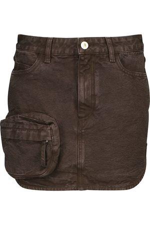 The Attico High-rise denim miniskirt