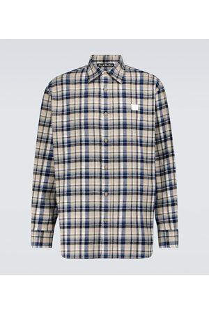 Acne Studios Saco flannel checked shirt
