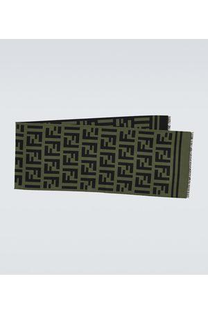 Fendi FF wool and silk scarf