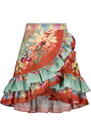 Etro Ruffled floral miniskirt