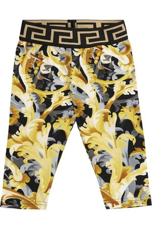 VERSACE Baby printed stretch-cotton leggings