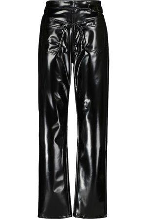 MM6 MAISON MARGIELA High-rise faux leather straight pants