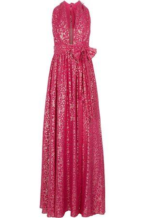 Rebecca Vallance Halter silk-blend maxi dress