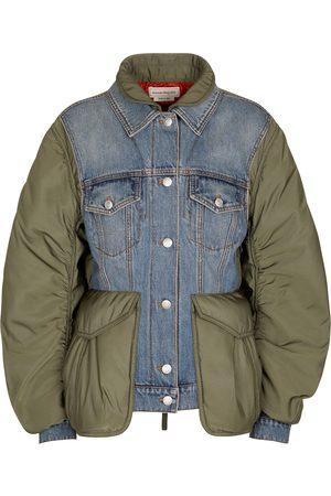 Alexander McQueen Technical-trimmed denim jacket