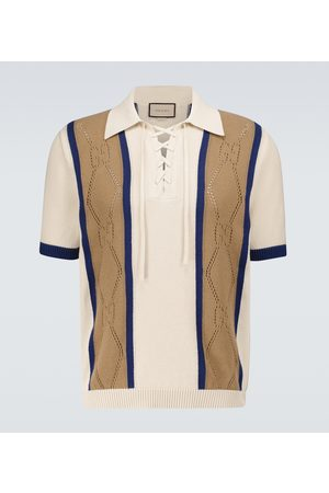 Gucci GG perforated cotton polo shirt