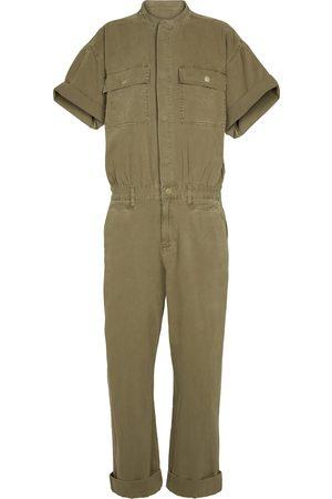 Frame Le Tomboy cotton twill jumpsuit