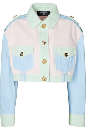 Balmain Cropped denim shirt