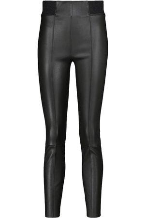 Brunello Cucinelli High-rise leather leggings