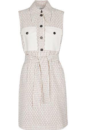 Victoria Victoria Beckham Checked cotton-blend minidress