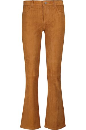 Stouls Dean mid-rise cropped suede pants