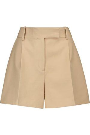 Khaite Maarte high-rise cotton shorts