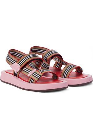 Burberry Icon Stripe canvas sandals