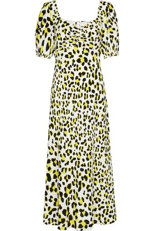 Diane von Furstenberg Jade leopard-print crêpe midi dress