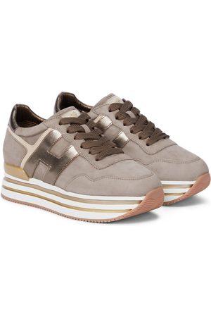 Hogan H483 leather platform sneakers