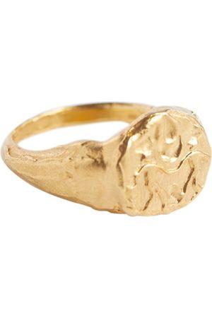 Alighieri Gemini 24kt -plated signet ring