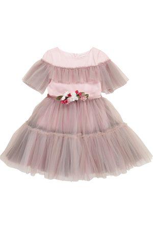 MONNALISA Tulle belted dress