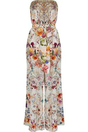 Camilla Embellished floral silk jumpsuit