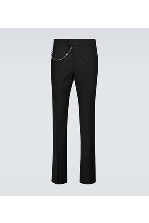 Givenchy Chain detail wool pants