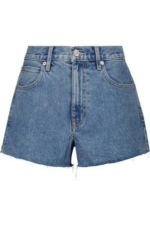 SLVRLAKE Mid-rise denim shorts
