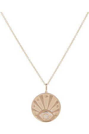 Sydney Evan Evil Eye Luck 14kt yellow necklace with diamonds