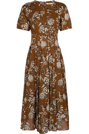 Max Mara Urbano floral cotton midi dress