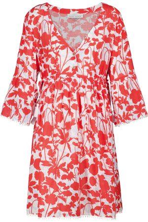 Heidi Klein Sardinia floral cotton kaftan minidress