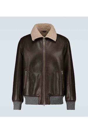 Brunello Cucinelli Shearling leather jacket