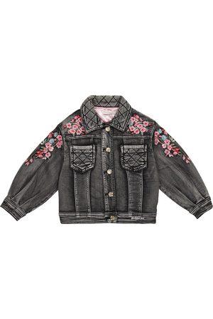 MONNALISA Embroidered denim jacket
