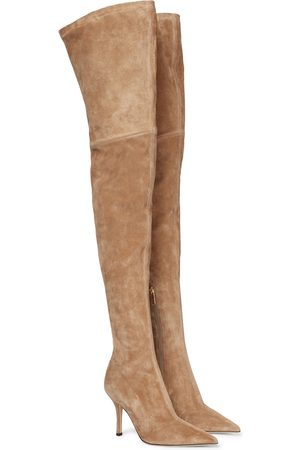 PARIS TEXAS Mama over-the-knee suede boots