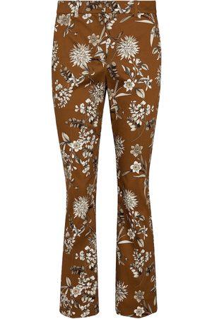Max Mara Scrivia floral stretch-cotton cigarette pants