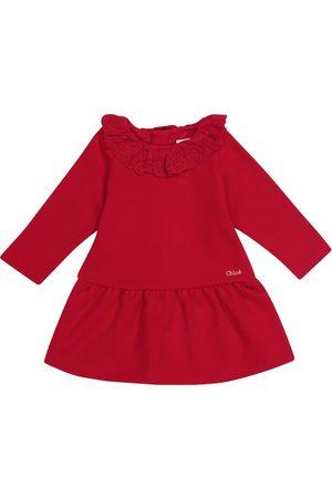 Chloé Baby cotton-blend jersey dress
