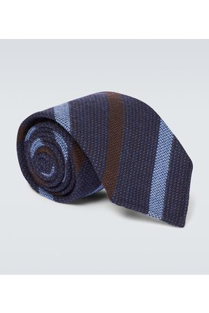 Thom Sweeney Wool and silk striped tie