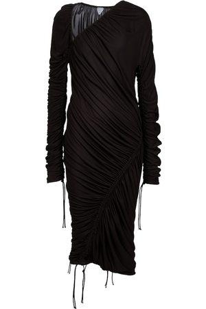 Bottega Veneta Draped asymmetric midi dress