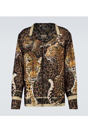 Dolce & Gabbana Leopard printed pajama shirt