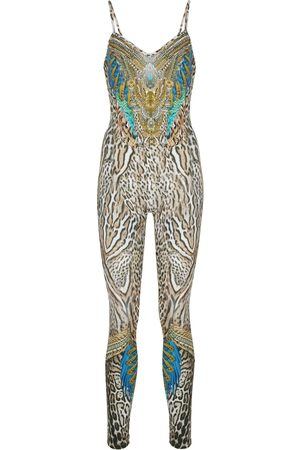 Camilla Leopard-print stretch-jersey jumpsuit