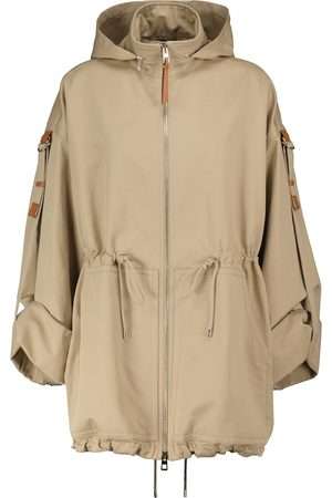 Loewe Hooded cotton and linen canvas parka