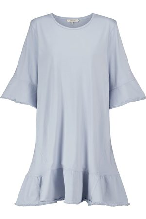 Dorothee Schumacher Mixed Magic denim-trimmed cotton minidress