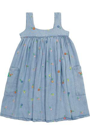 Stella McCartney Floral embroidered denim dress