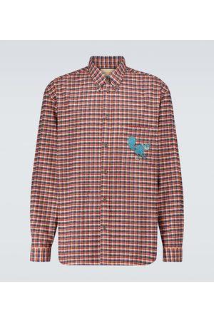 Gucci Freya Hartas embroidered checked shirt