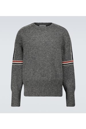 Thom Browne Wool and mohair crewneck sweater